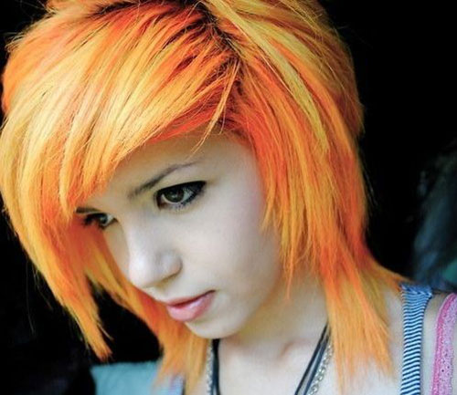 Short Emo Hair Color Trends