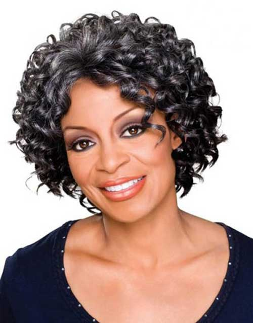 Short Grey Curly Hairstyles Older Black Women