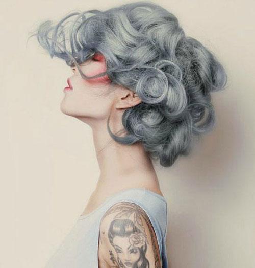 Short Grey Hair Color Trends 2016