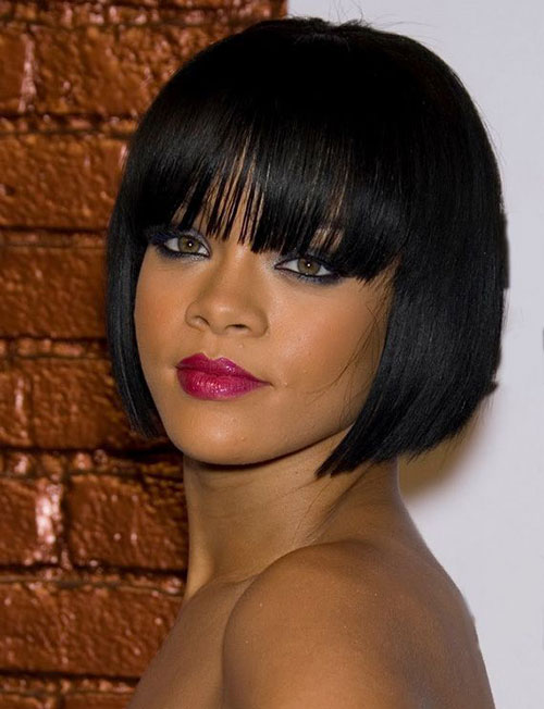 Short Hair with Bangs for Black Women
