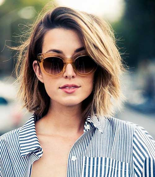 Stylish Short Hairstyles Thick Hair
