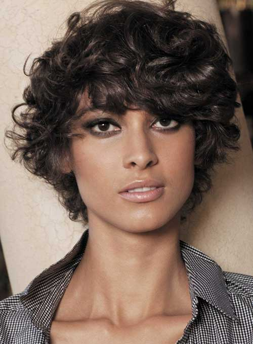Short Hairstyles for Curly Frizzy Hair for Black Women