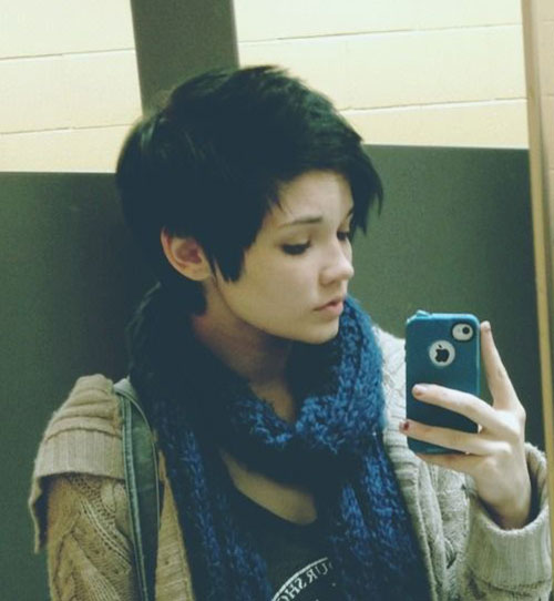 Short Layered Pixie Cut for Girls