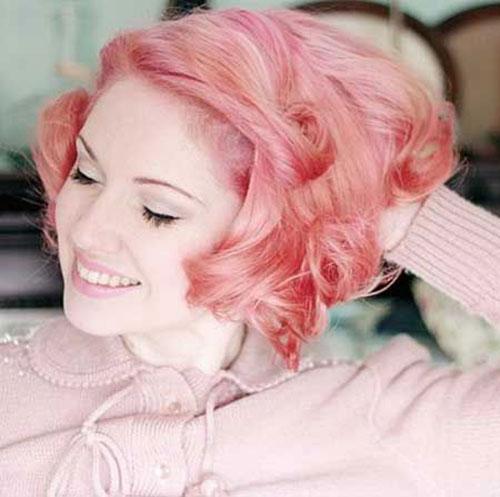 Short Pastel Pink Hair Color Trends 2015