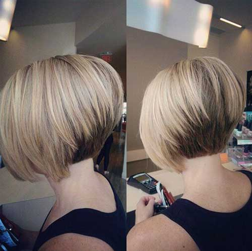 Short Stacked Haircuts for Thick Straight Blonde Hair