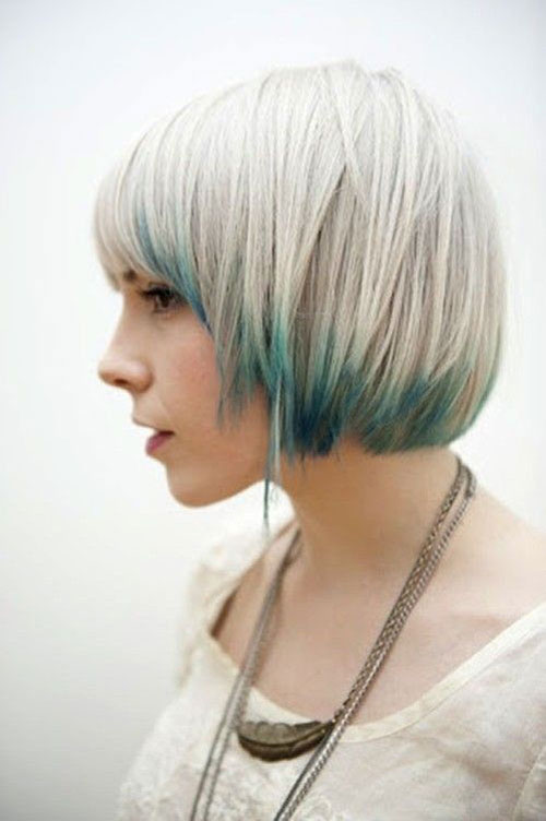 Cool Short Straight Hairstyle