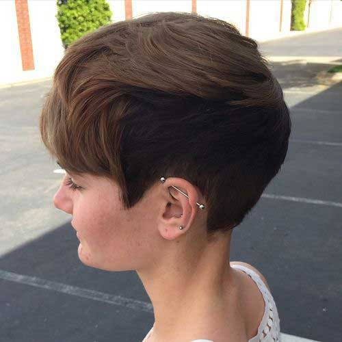 Best Short Thick Pixie Haircut for Girls