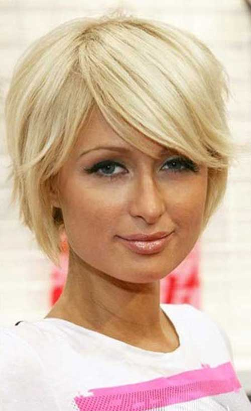 Side Swept Short Blonde Hairstyles