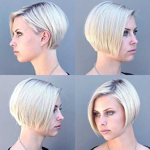 New Classic Short Bob Hairstyles Side Part Short Haircut Samaire