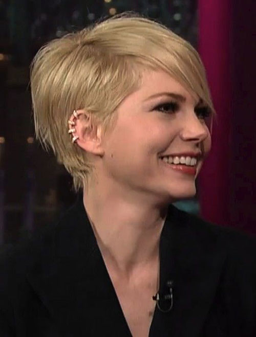 Straight Hair Pixie Cuts with Long Bangs