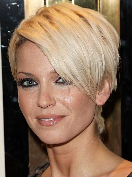 Best Straight Short Haircuts for Round Faces 2014