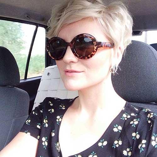 Stylish Wavy Pixie Haircut