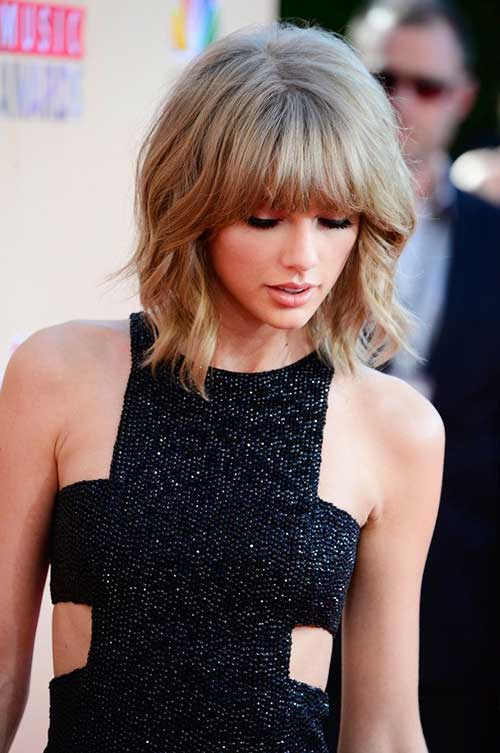 Taylor Swift Chic Bob with Bangs