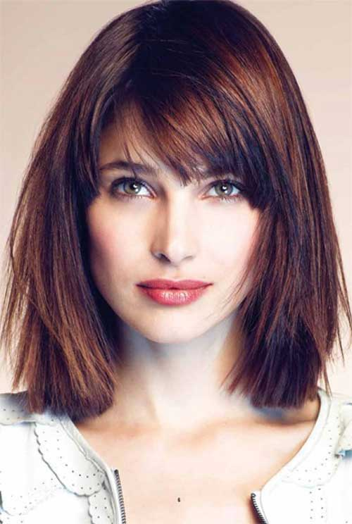 Best Thick Bob Haircuts with Layered Bangs