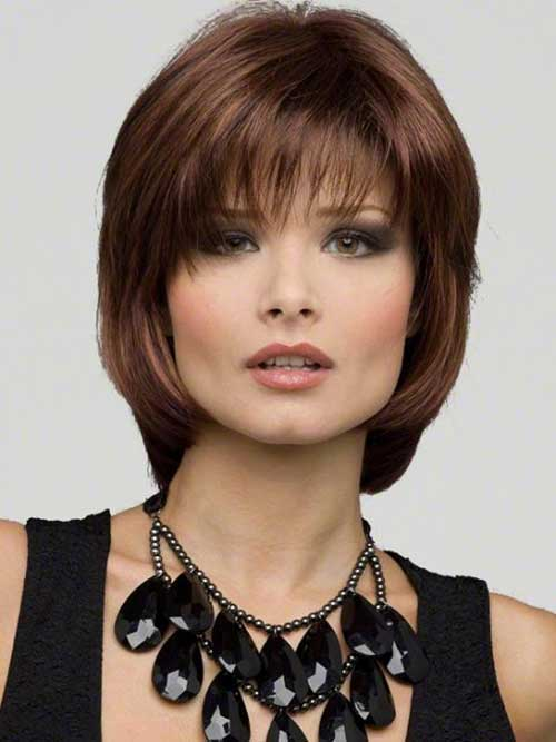 Layered Angled Bob With Bangs