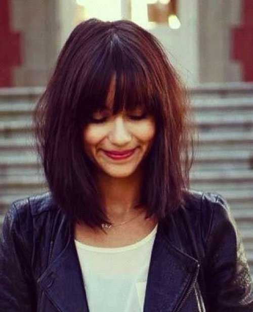 Best Trendy Long Bobs with Bangs
