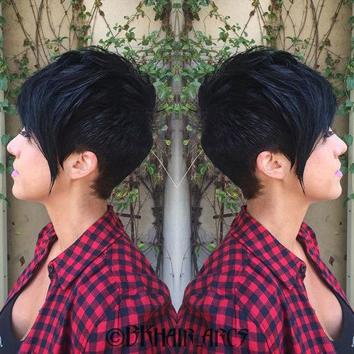 2016 Long Pixie Cuts with Bangs