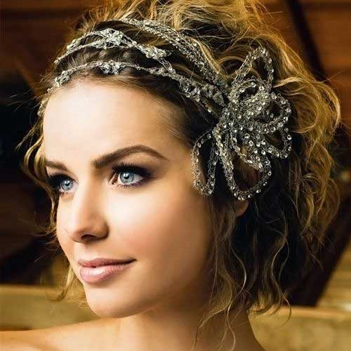 Wedding Style Wavy Curls for Short Hairstyles