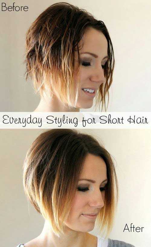 Womens Ombre Short Haircuts for 2016