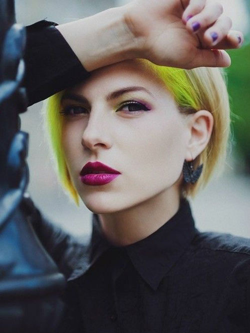 Yellow Short Hair Color Trends