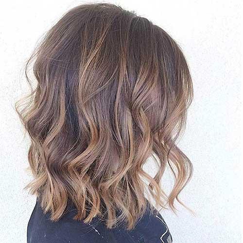 Ash Blonde Balayage Hair Bob