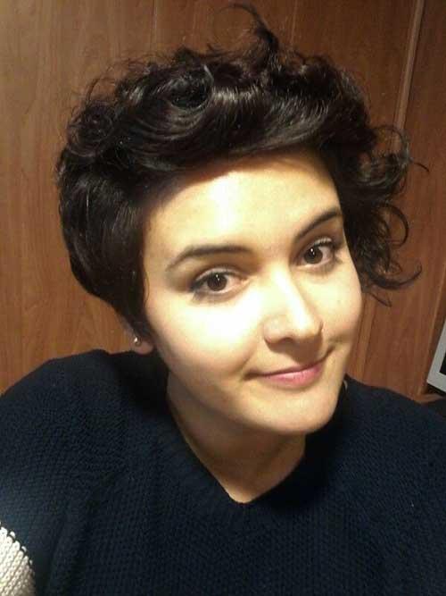 Asymmetrical Pixie Haircuts Curly Hair