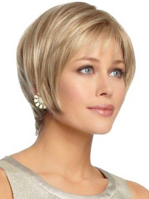 Blonde Short Hairstyles for Oval Faces