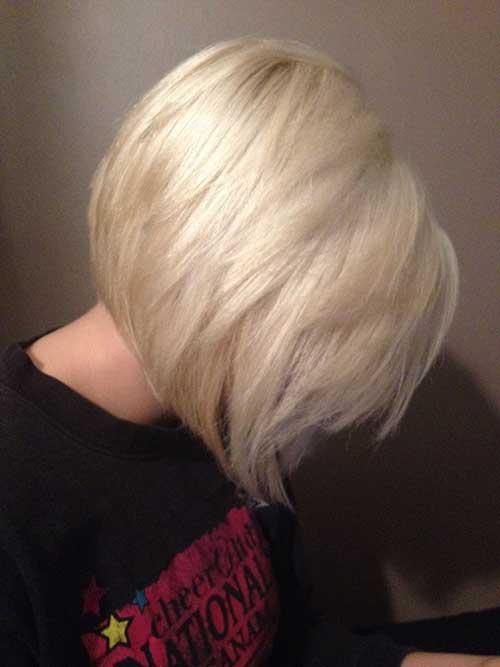 Blonde Stacked Fine Bob