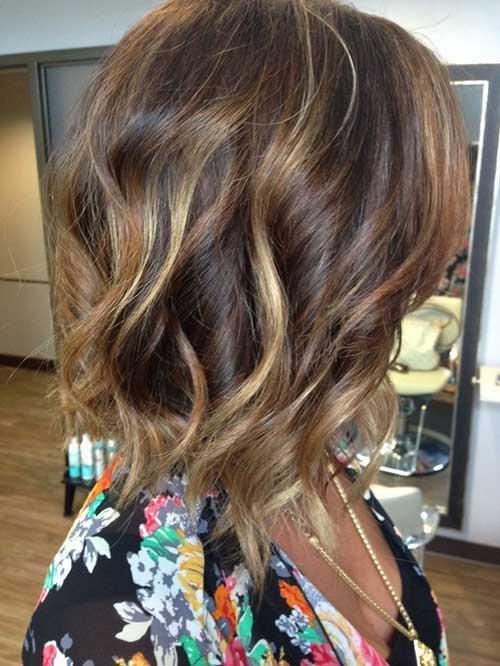 Brunette Balayage Bob Hair