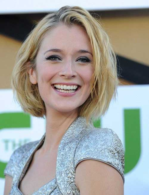 Caitlin Fitzgerald Cute Short Blonde Hairstyles
