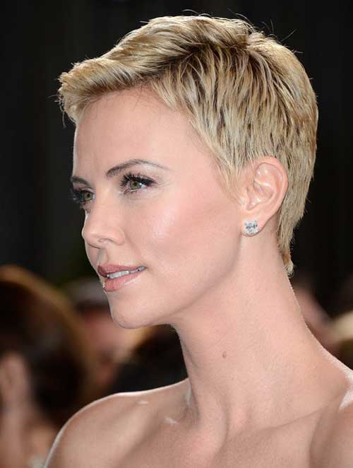 Charlize Theron Blonde Short Pixie