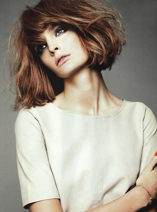 8 Choppy Bob Hairstyles For Thick Hair crazyforus