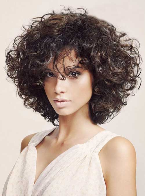 Thick Curly Bob Hairstyles 2016