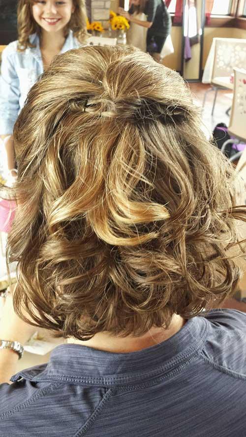 Curly Bob Hair Updos