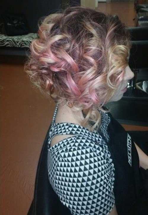 Curly Hair Bob Updos