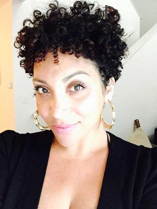 Curly Pixie Dark Hair Cuts