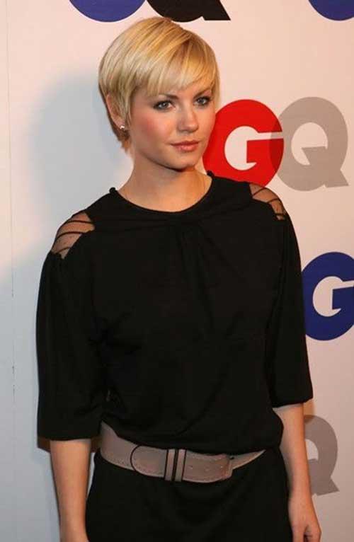 Elisha Cuthbert Short Straight Hairstyles
