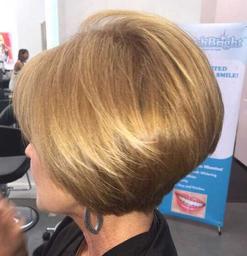 Graduated Short Hairstyles for Women Over 40