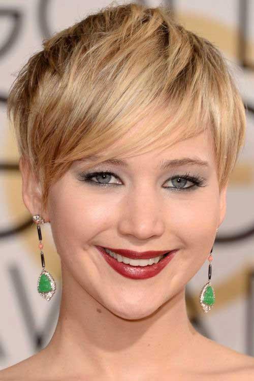 Jennifer Lawrence Short Blonde Hairstyles