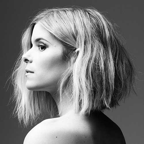 Kate Mara Choppy Lob Haircut