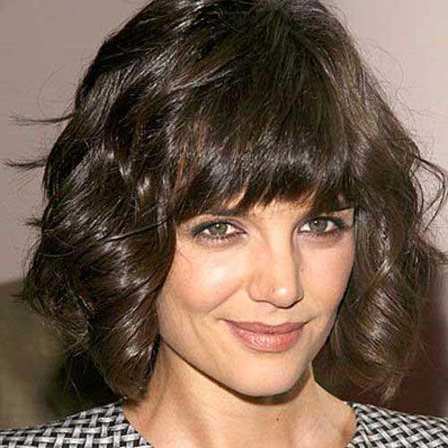Katie Holmes Short Wavy Thick Hair