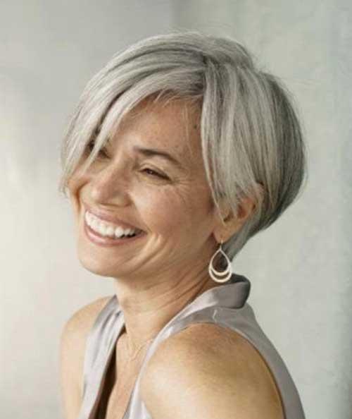 Ladies Short Grey Haircuts