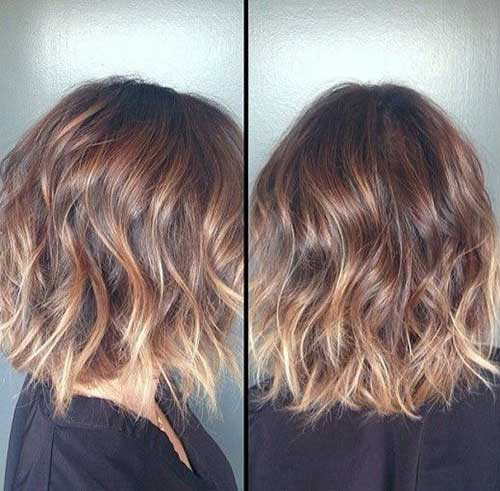 Loose Waves Ombre Short Hairstyles