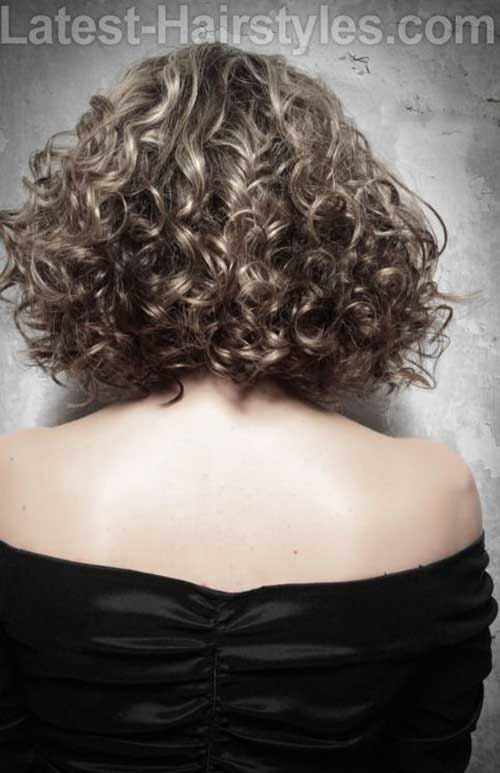 Natural Curly Bob Back View