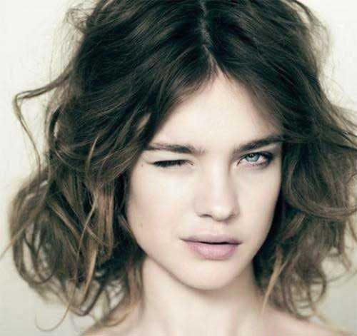 Ombre Thick Wavy Short Hairstyles