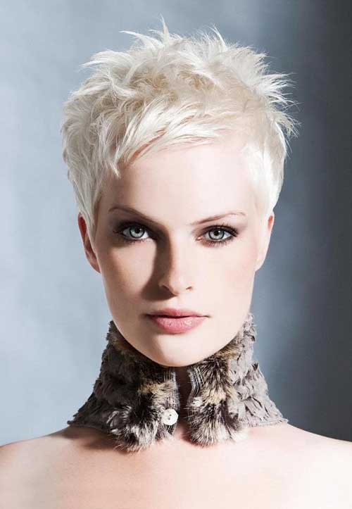 Unique Pixie Cut White Hair