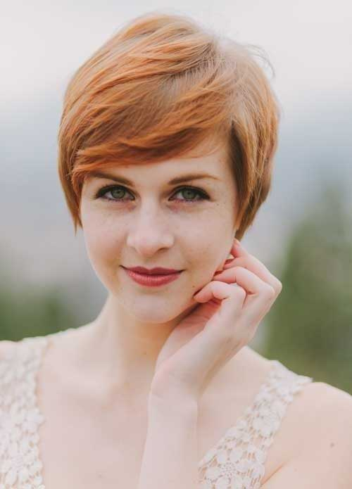 2016 Pixie Cut with Straight Bangs
