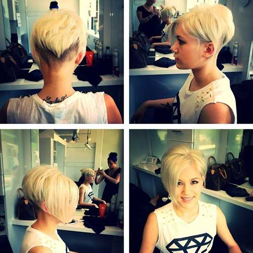Ladies Pixie Haircut Front and Back