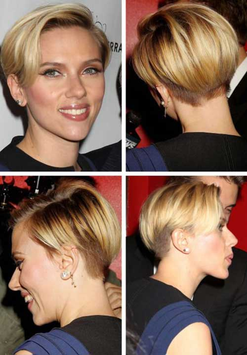 Scarlett Johansson Unique Short Haircut Back