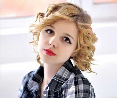 Best Short Curly Hair Round Face